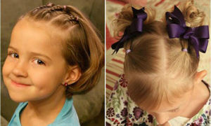 Прически для девочек: интересные идеи для средних волос, 45 фото