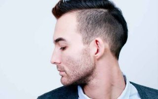 Мужская стрижка с выбритыми висками: варианты модных причесок