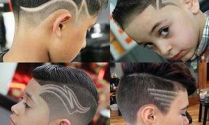 Стрижки с рисунками на голове для мальчиков и парней