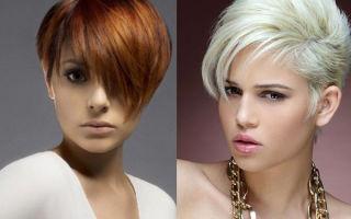 Модные и элегантные асимметричные стрижки на короткие волосы