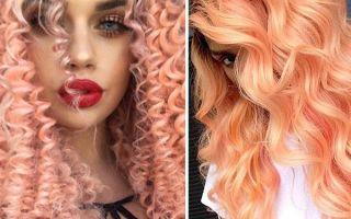Модный персиковый цвет волос: кому идет и как его получить в домашних условиях