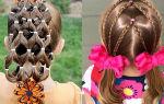 Идеи повседневных и праздничных причесок с резиночками для девочек