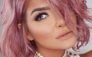 Розовый цвет волос – экстравагантный выбор смелых девушек