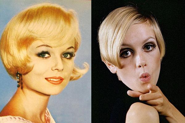 боб на короткие волосы эпохи 60-х годов