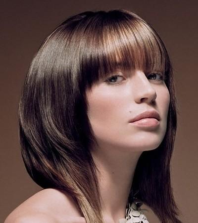 стрижка каре градуированное на средние волосы фото