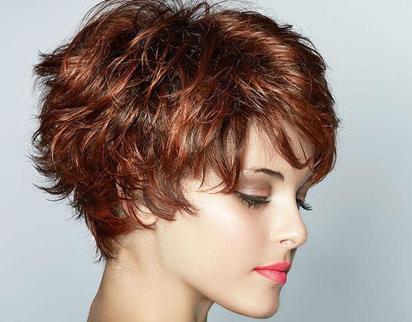 Стрижки на вьющиеся короткие волосы 2017 женские фото
