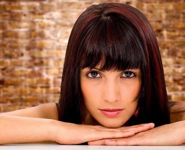 колорирование на темные волосы средней длины фото