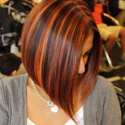 рыжее колорирование на темные волосы
