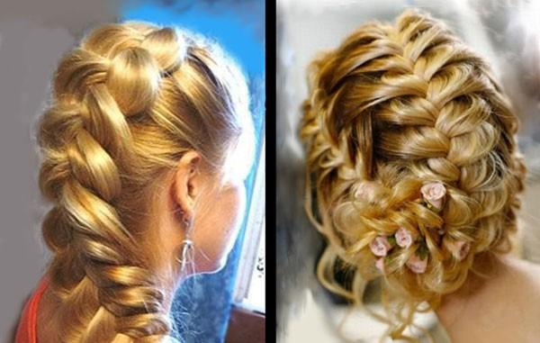 французские косы на средние волосы
