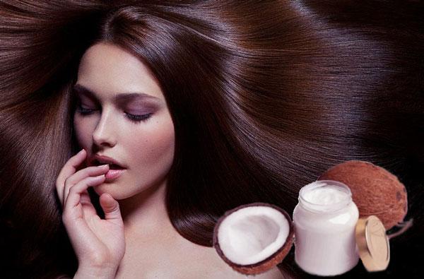красивые волосы и кокосовое масло