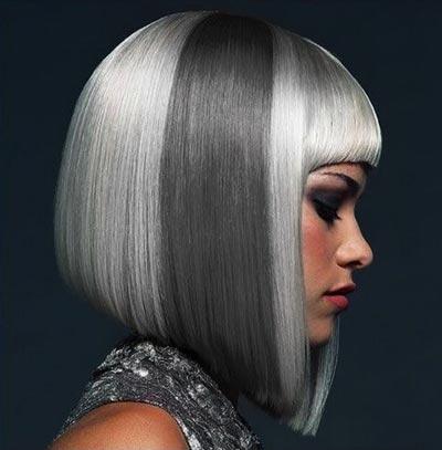 Окрашенное каре на средние волосы
