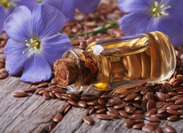 льняное масло с цветами