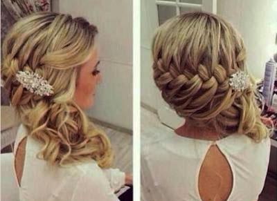 французская коса для свадьбы