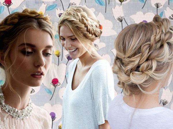 коса вокруг головы на свадьбу