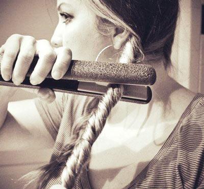 Маленькие кудри на длинные волосы
