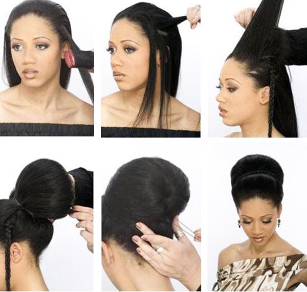 бабетта из длинных волос