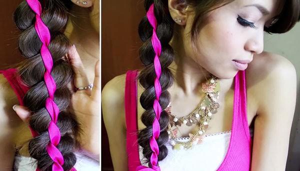 ленты в косах