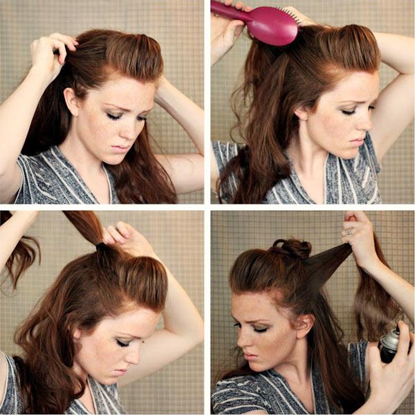 как сделать ирокез из длинных волос