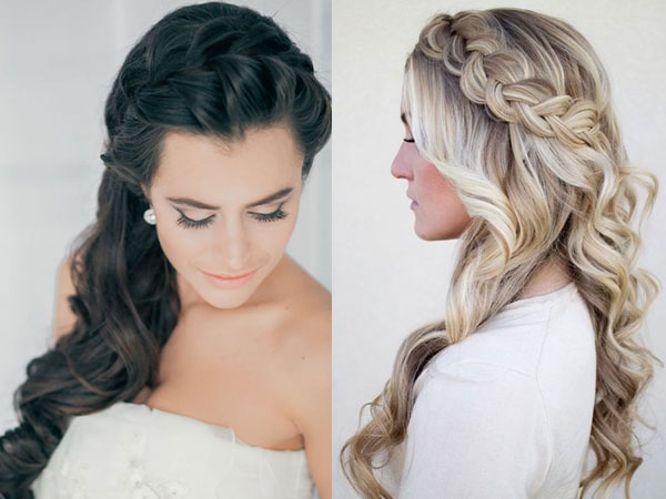 Локоны с косами