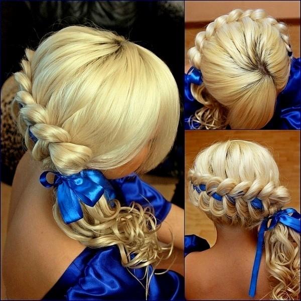 коса с лентами