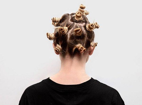 волосы с помощью жгутов