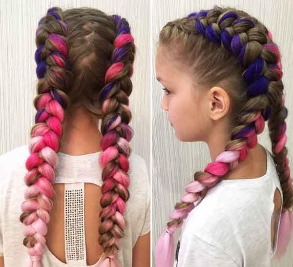 цветные косы
