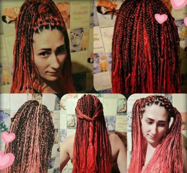 косы с нитками