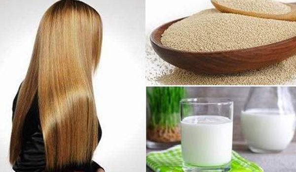 Дрожжи и кефир для волос