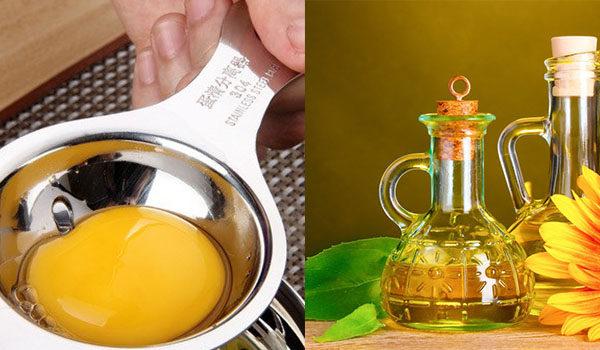 Масло и желток