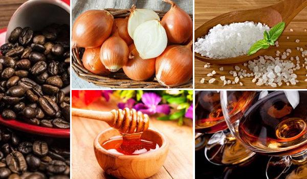 Соль, пук, коньяк, мед и кофе