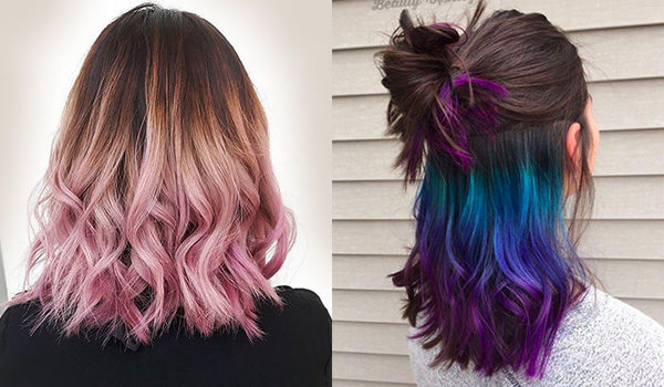 Техника окраски волос омбре