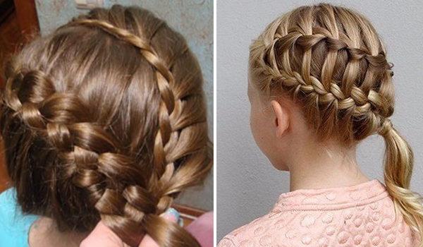 Двойная коса на бок