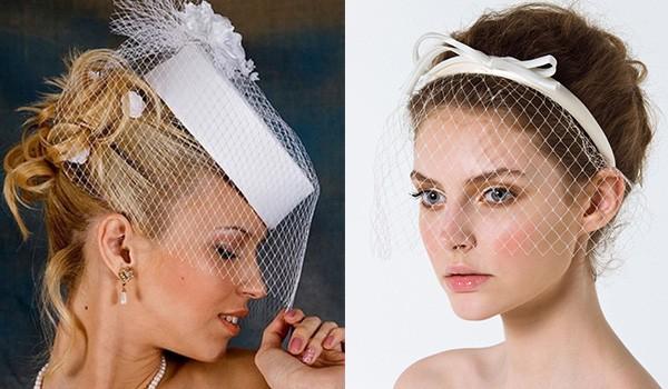 Прически со свадебной вуалеткой