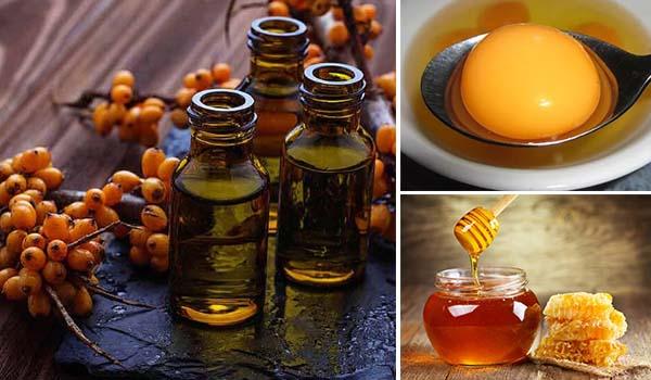 Желток, мед, масло