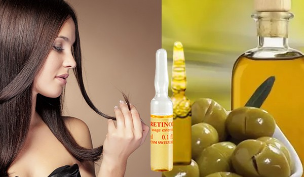 Аптечные витамины и масло