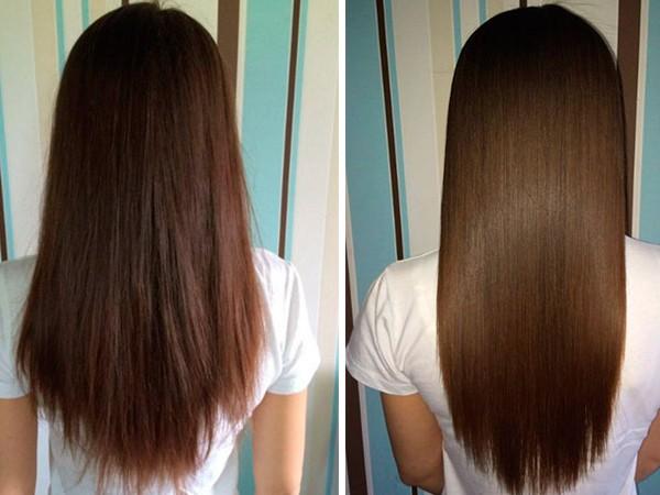 Результаты экранирования волос