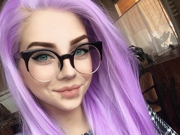 светло-фиолетовые волосы
