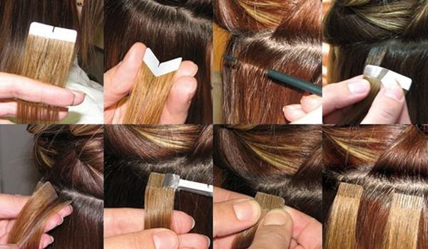 Схема наращивания волос