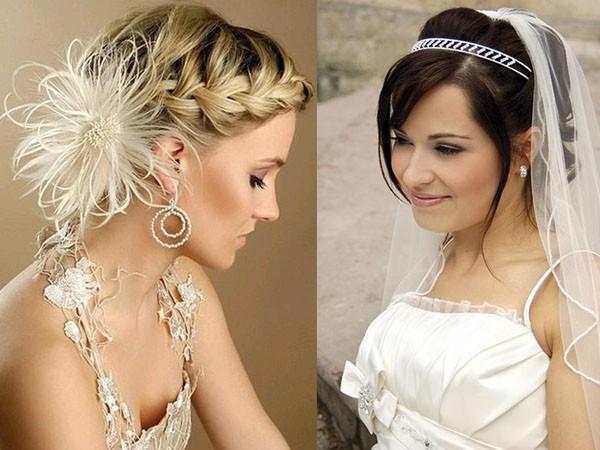 Прически каре свадебные