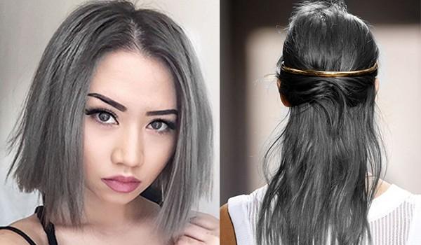 Цвет волос темно-серый