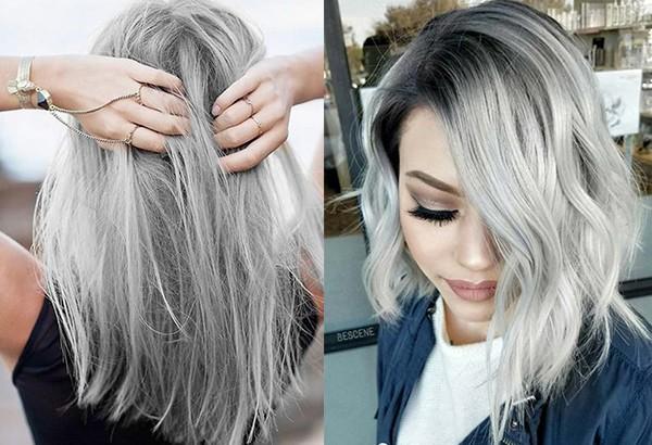 Светло-серые волосы
