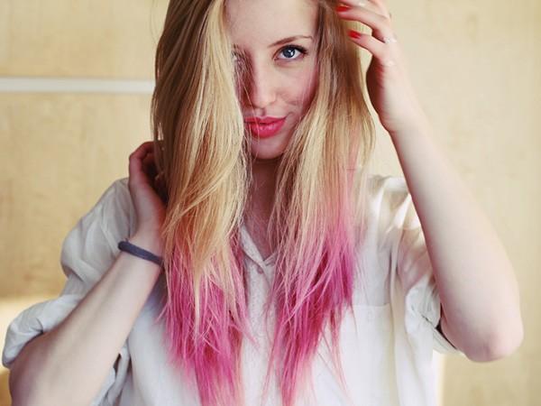 Окрашенные кончики волос