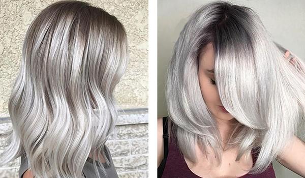 Светло-пепельные волосы