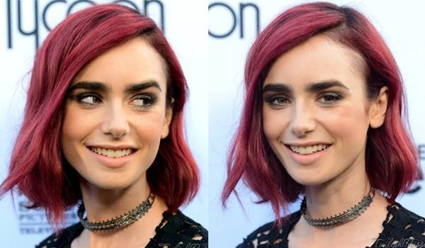 Темно-розовые волосы
