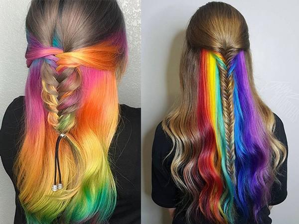 Скрытое окрашивание на светлые волосы