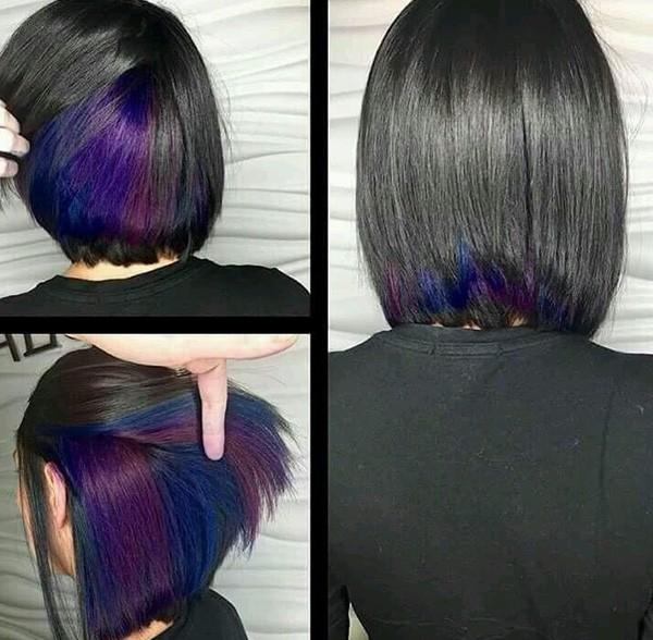 Скрытое окрашивание на темные волосы