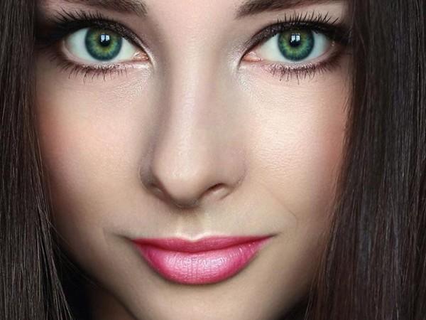 Цвет волос для ярко-зеленых глаз