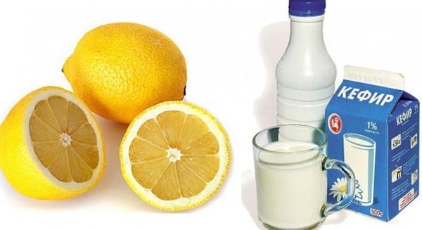 Кефир и лимон