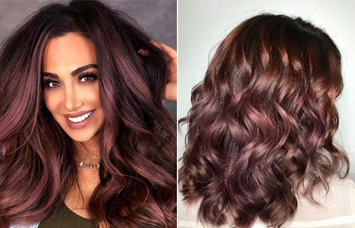 бордовый цвет волос