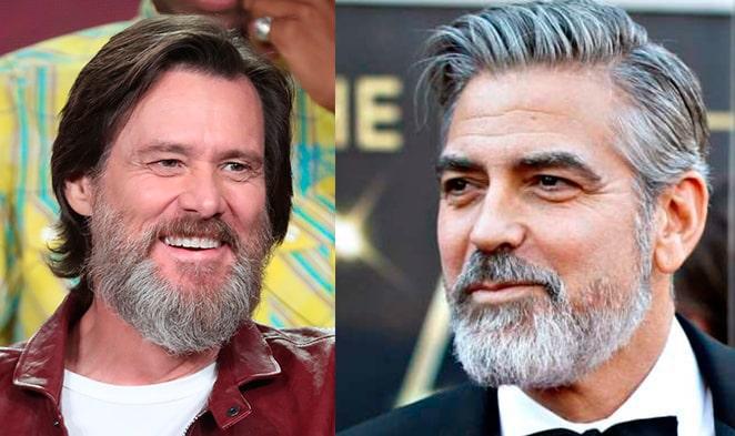 двухцветная борода